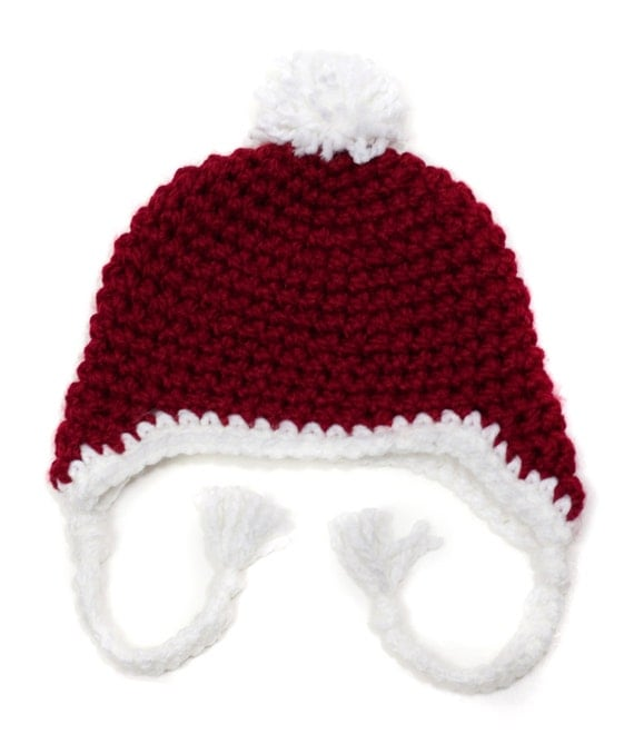 Toddler Baby Candy Cane Holiday Santa Hat Photo Prop
