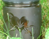 I Heart Cannabis Amber etched jar
