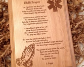 EMS Prayer Plaque Laser Engraved