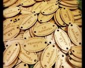 Custom Engraved Wood Tags