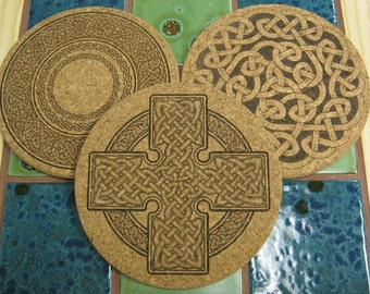 Engraved Cork Trivets or Coasters
