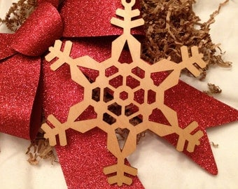 Extra Large Wooden Laser Engraved Snowflake (Style C)