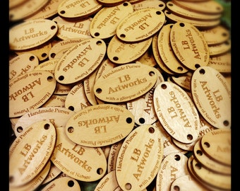 Custom Engraved Wood Tags