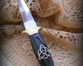 Traditional Black handle Triquetra athame wiccan pagan , Ritual, spells, goddess.magic,witch, metaphysical,new age,witchcraft