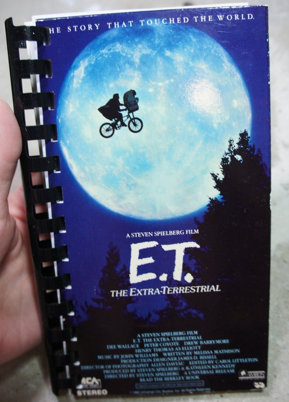 vintage recycled E.T. vhs notebook