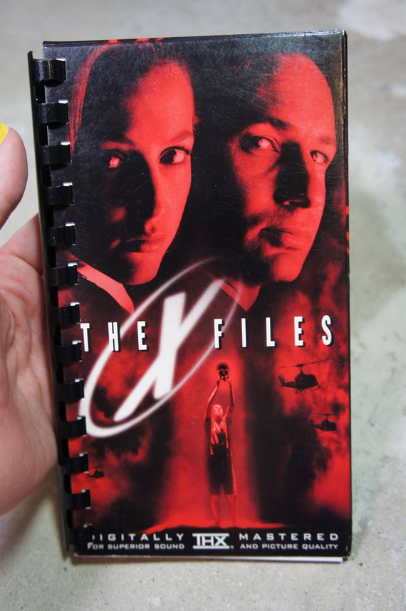 recycled 90's X-FILES vhs notebook