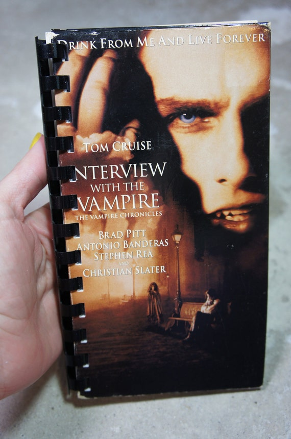 vintage 90's recycled INTERVIEW with the VAMPIRE vhs notebook
