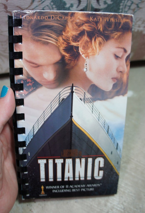 recycled 90's TITANIC vhs notebook