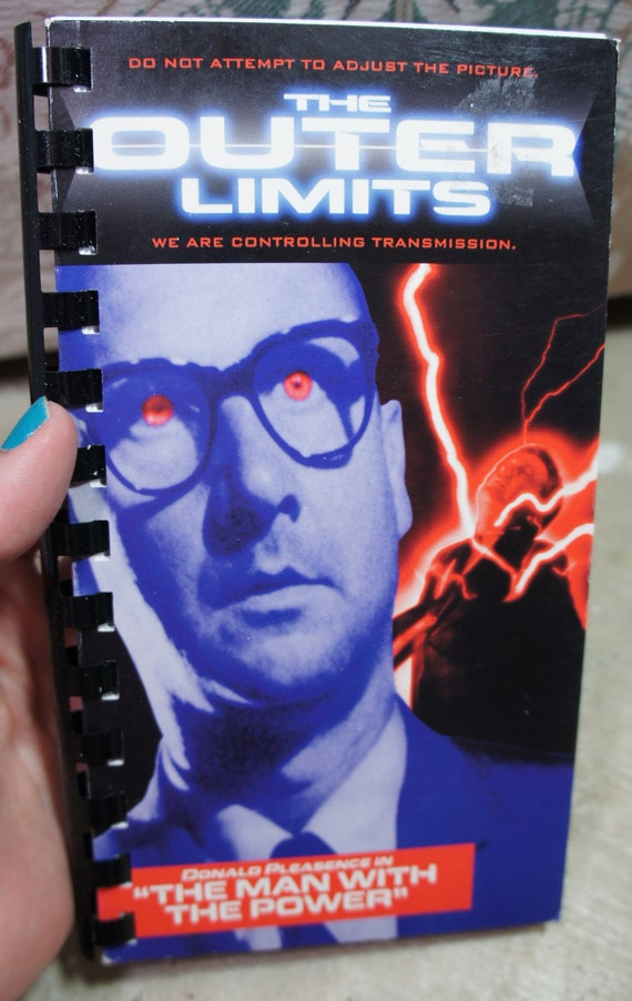 vintage recycled THE OUTER LIMITS vhs notebook