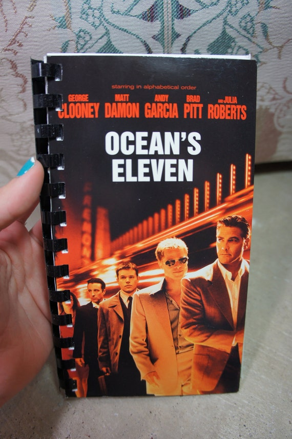 recycled OCEAN'S ELEVEN vhs notebook