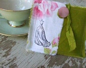 Shabby Chic Antique Inspired - Decorated Credit Card/Business Card Pouch  - Postmark and Ballgown