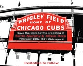 Wedding Save the Date or Invitation Chicago Cubs
