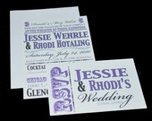Wedding Invitation Set with Your Bulletin