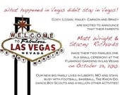 Las Vegas Announcement, Save the Date, or Invitation
