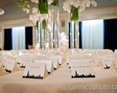 Chicago Skyline Wedding Place Cards -- Customizable