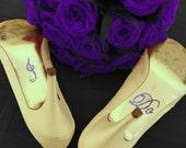 Purple I DO Bridal Shoe Stickers