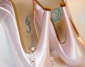 I DO Wedding Decals in Blue for your Shoe 20% OFF Today
