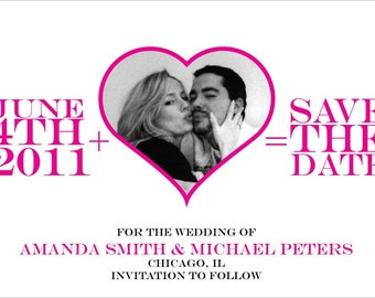 Wedding Save the Date - Equation