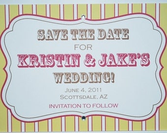 Save the Date or Invitation - A Touch of Crystal