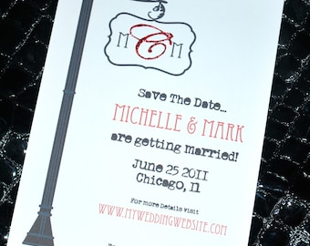 Wedding Save the Date or Invitation - Monogram Street Sign