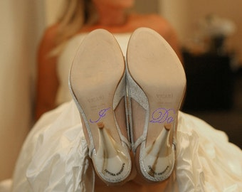Bridal I Do Shoe Sticker in PURPLE for your Wedding Shoes
