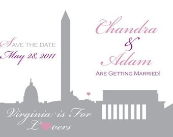 Save the Date or Invitation - DC Silhouette