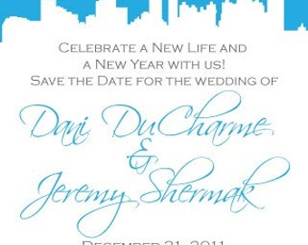 Atlanta Save the Date or Invitation with Silhouette