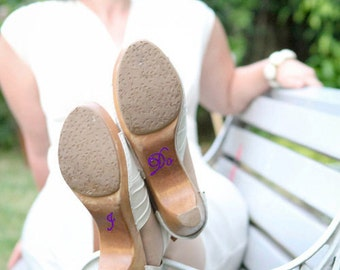 Purple Wedding I DO Shoe Stickers