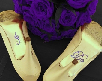 Purple I DO Bridal Shoe Stickers
