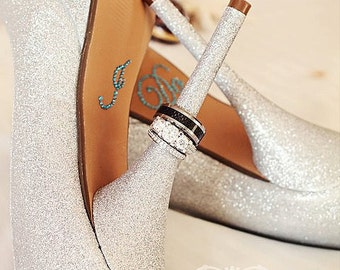 Crystal I DO Shoe Stickers