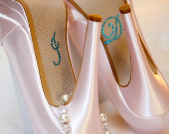 I DO Wedding Decals in Blue for your Bridal Shoes