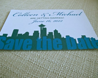 Wedding Save the Date Seattle Postcard