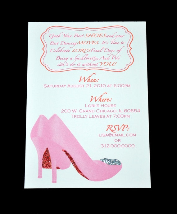 My Favorite Shoes Girls Night Out or Bachelorette Party Invitation