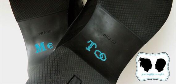 Wedding Shoe Sticker in Blue for the Groom