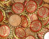 Lot of 20 Vintage Cork Bottle Caps Imitation Raspberry Soda