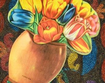 Vintage Flower Vase Needle Book NOS Un used