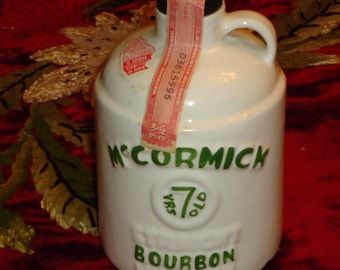 Vintage Half Pint Of McCormick Bourbon Whiskey