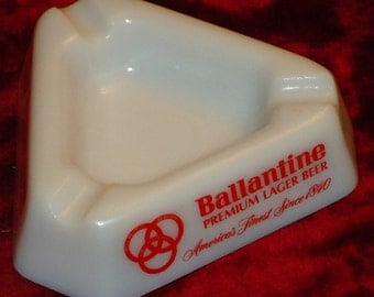 Vintage Ballantine Beer Ashtray