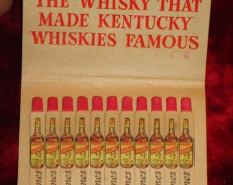 Vintage Early Times Whisky Oversized Matchbook