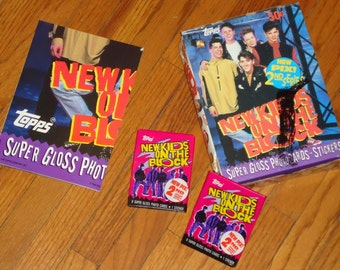 Full Store Display of 36 Packs of New Kids on The Block Trading Cards