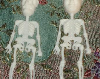 Pair of Communist Skeletons Mikhail Gorbachev Fidel Castro