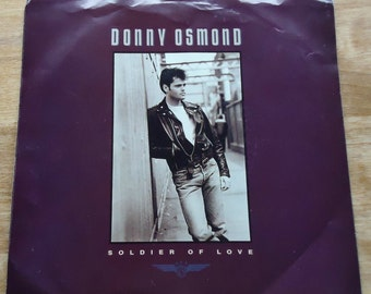 Donny Osmond Soldier of Love 45rpm Record with Picture Sleeve