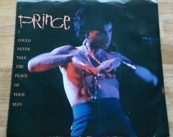Prince I Could Never Take The Place of Your Man 45rpm Record with Picture Sleeve