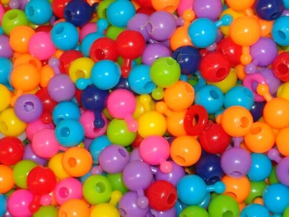 Lot of 100 1980s Pop Beads