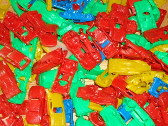 "144 1.5"" Plastic Cars Cake Decorations Craft Supply"