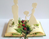 Handmade pop-up book style cake topper, Enchanted Forest Theme