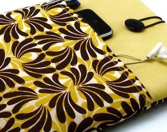SALE iPad Air case 2, iPad cover, iPad sleeve/ Samsung Galaxy Tab 3 10.1with 2 pockets, PADDED - Brown Fountain