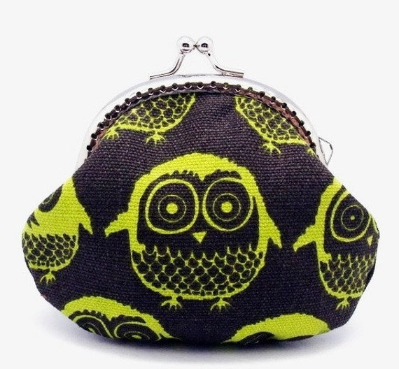 Owls - Small clutch / Coin purse (S-098)