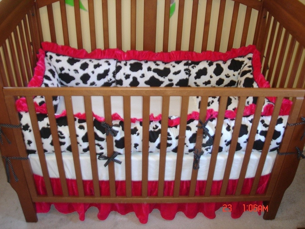 Cow Princess Crib Bedding Set