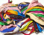 Recycled Sari Ribbon New Soft So Colorful Approximately 60 Yards Very Soft And  Real Nice Colors